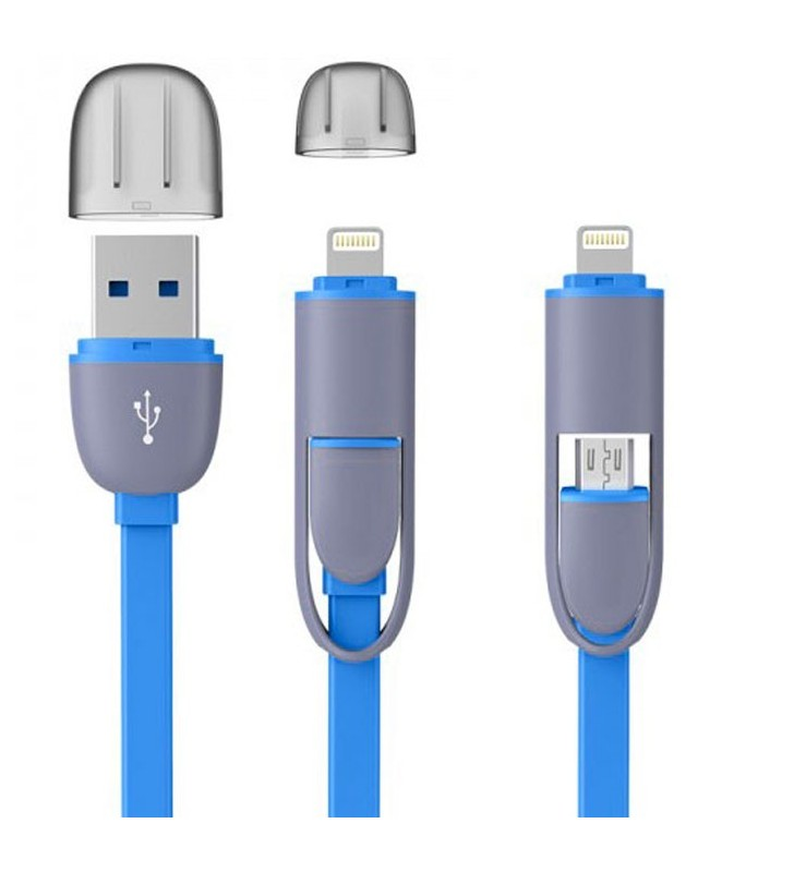 2 in 1 For iPhone & Android USB Cable