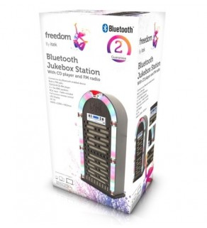 iTek I60017 Bluetooth Multi Functional LED Jukebox Speakers Radio, CD player