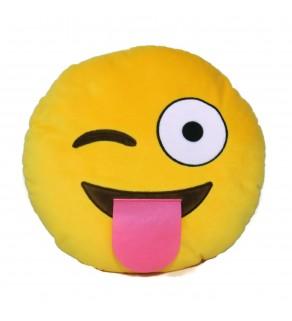 Emoji Wink Cushion