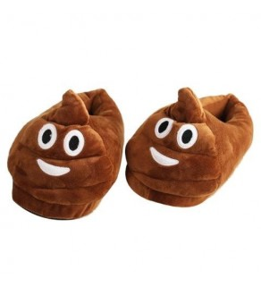 Emoji Poo Slippers