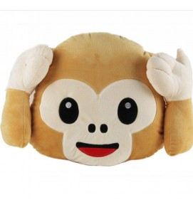 Emoji Monkey Cushion