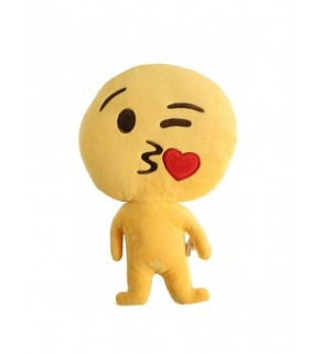"Emoji Doll ""Kiss Face"" Cushion"