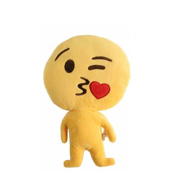 "Emoji Doll ""Kiss Face"" Cushion"
