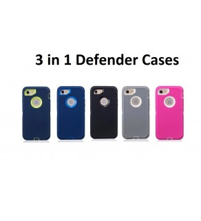 3 in 1 Heavy Duty Defender Case For Apple and Samsung