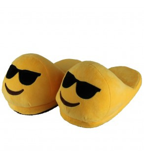 Emoji Cool Dude Slippers