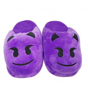 Emoji Purple Devil Slippers