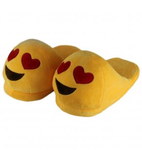 Emoji Heart Eye Slippers