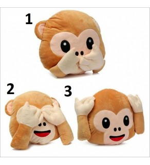 Emoji Monkey Cushion