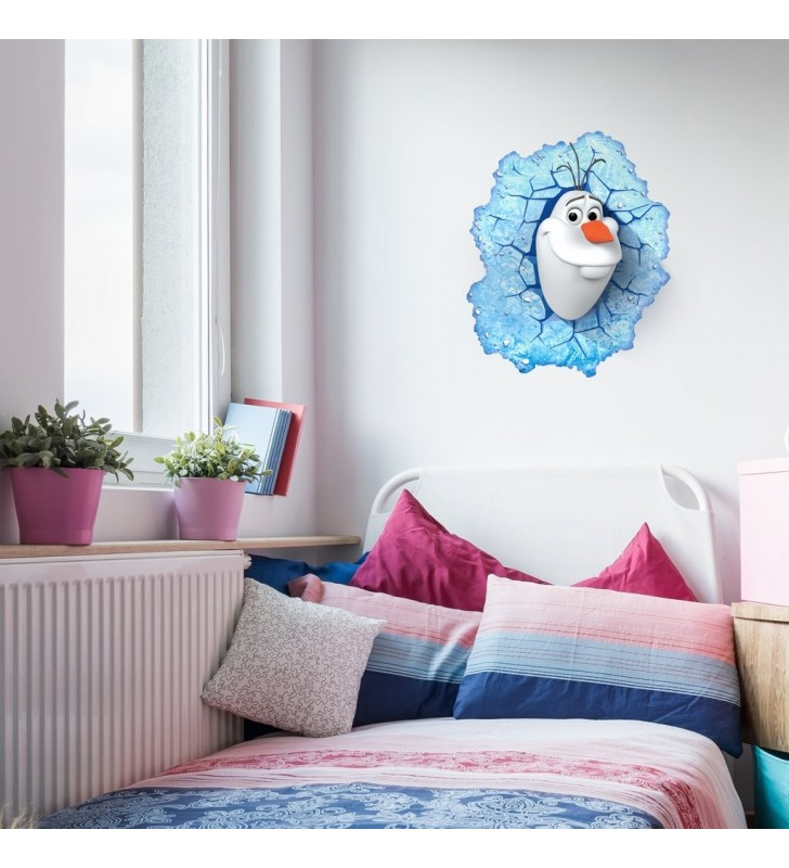 Frozen Olaf Light 3D Wall Light For Kids Bedroom