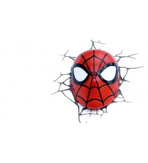 Spider-Man Mask Light 3D Wall Light For Kids Bedrooms