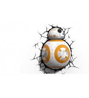 Star Wars BB-8 Light 3D Wall Light