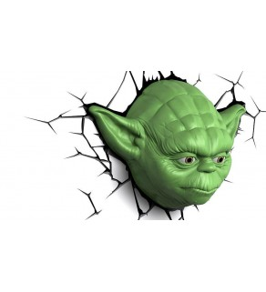 Star Wars Yoda Face 3D Wall Light