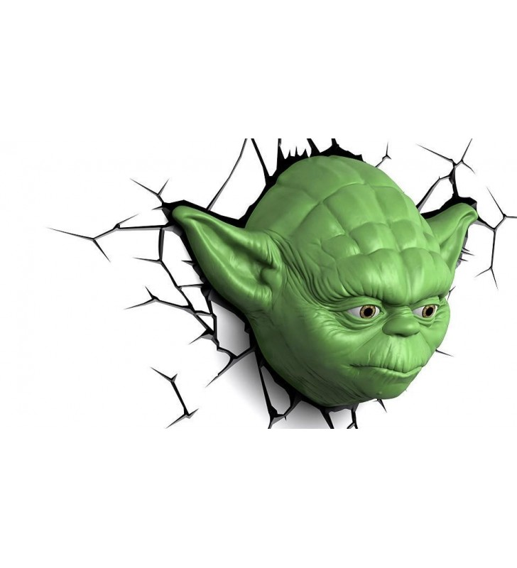 Star Wars Yoda Face 3D Wall Light