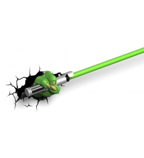 Star Wars Yoda's Lightsaber 3D Wall Light
