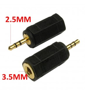 3.5mm Stereo Jack Socket to 2.5mm Stereo Audio Jack Adapter