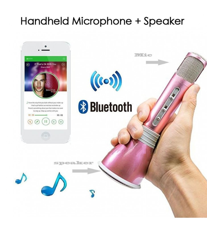 Mini Karaoke Bluetooth Microphone-Speaker
