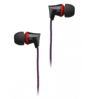 Intempo Red Flex Fabric Cable Earphones