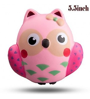 Pink Owl Slow Rising Squishy Squishies