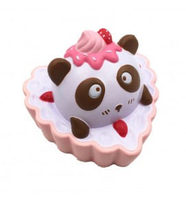 Large Panda Heart Cake Slow Rising Squishy Squishies