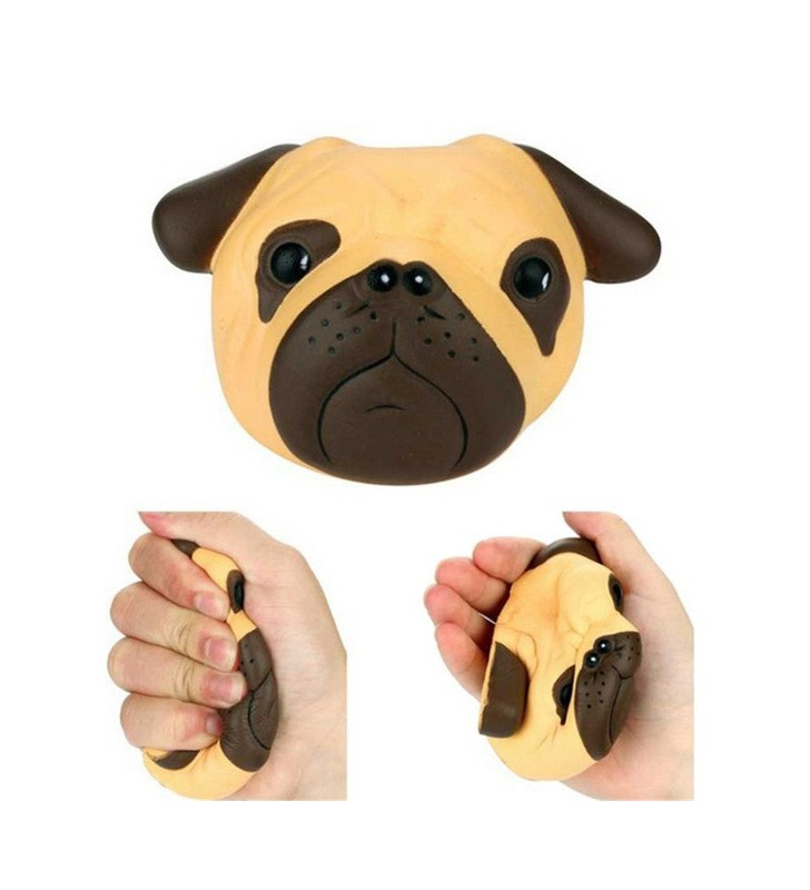 Pug Dog Head Slow Rising Squishy Squishies