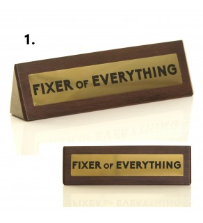 Novelty Wooden Desk Signs