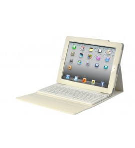 Leather Case With Built In Keyboard For iPad 2/3/4