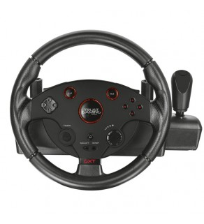 Trust GXT 288 Gaming Steering Wheel with Pedals for PC and PS3.