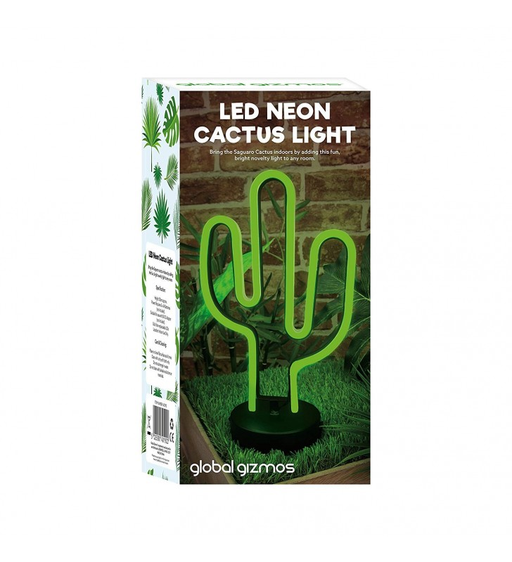Global Gizmos LED Neon Cactus Light