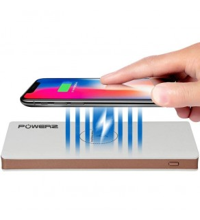 PowerZ 2A Wireless Power Bank 10000mAh - White