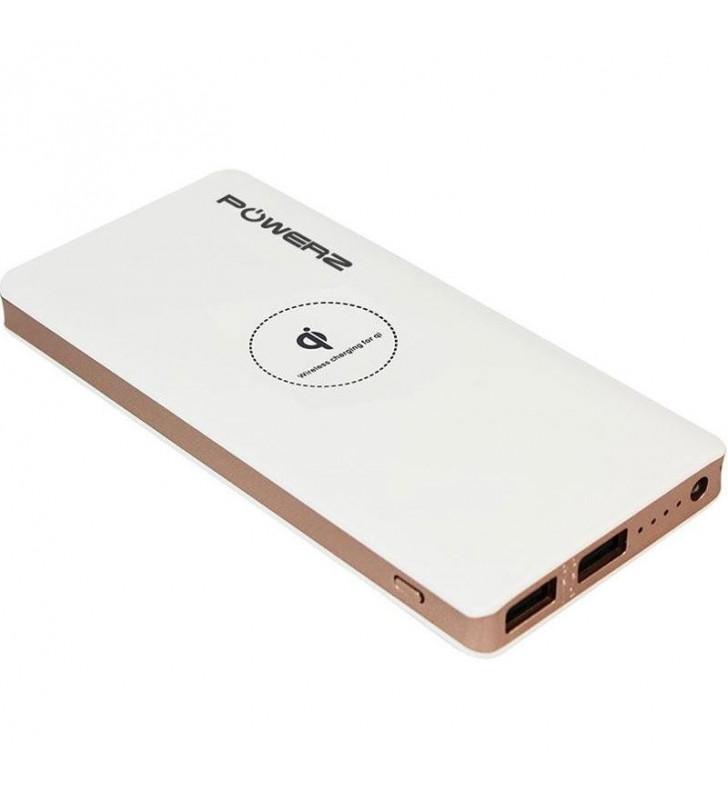 PowerZ 2A Wireless Power Bank 10000mAh - White