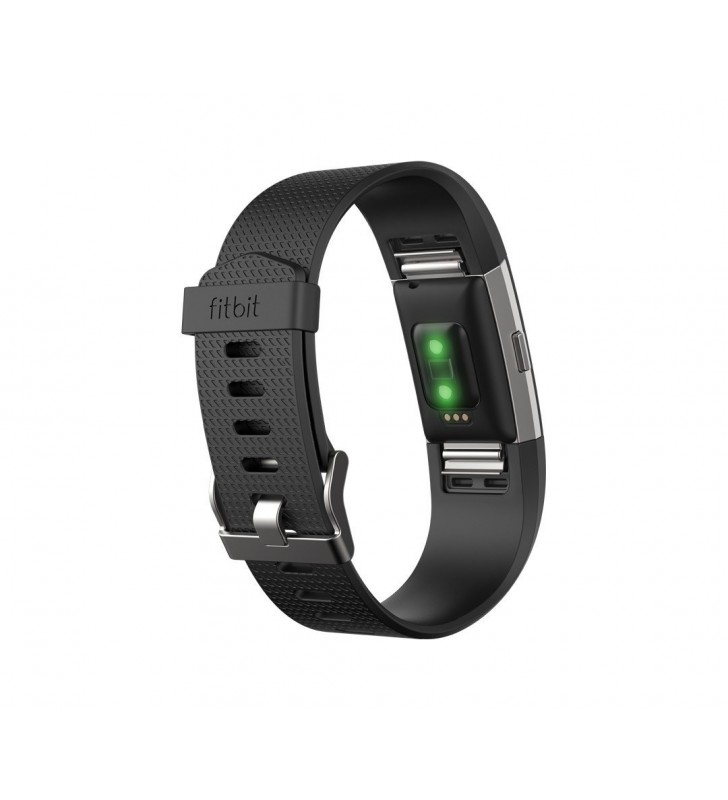 Fitbit Charge 2 Heart Rate + Fitness Wristband Large - Black/Silver |