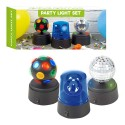 Global Gizmos Pack of 3 Mini Disco Party Fun Lights
