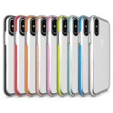 Colour Framed TPU Clear Case - Apple