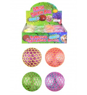 Squeeze Ball Mesh Glitter W/light