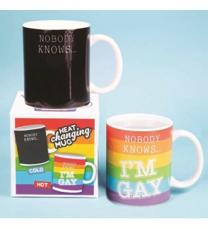 Nobody Knows I'm Gay Heat Changing Mug