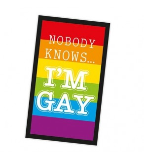 Nobody knows i'm gay towel
