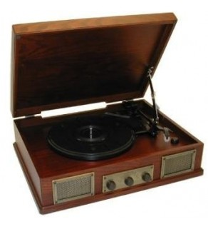 Steepletone retro style 3 speed record player
