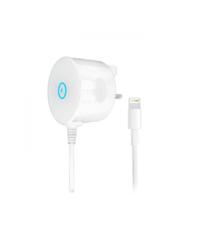 2.1 Amp iGlow Mains Charger for iPhone Lightning USB
