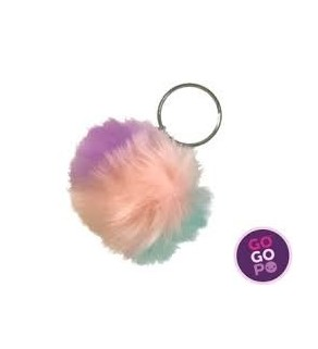 Furry ball Keyring
