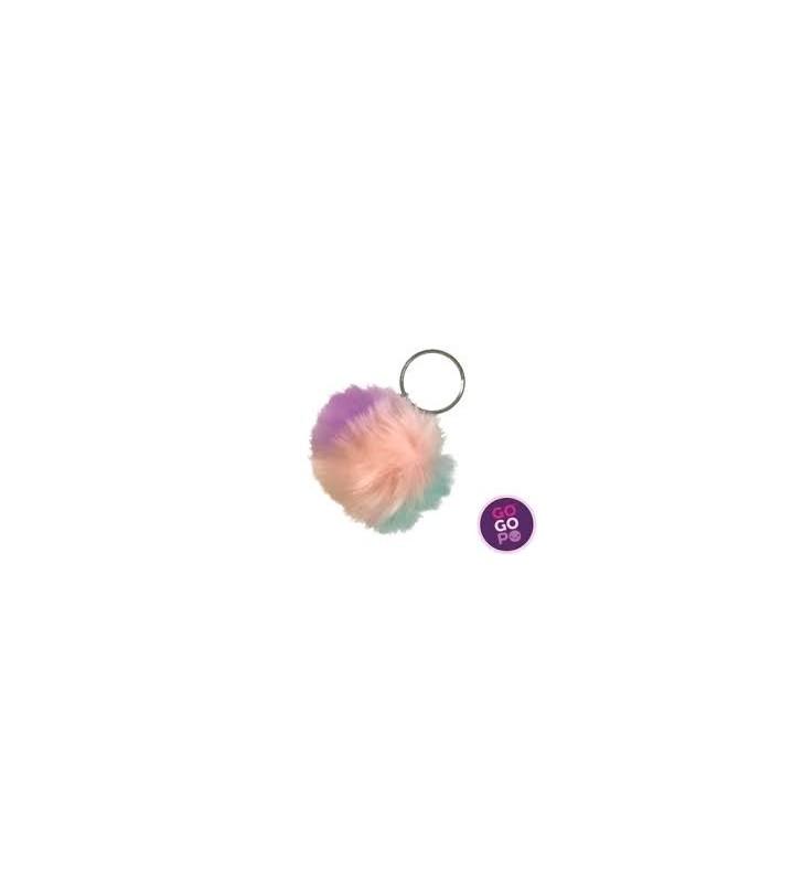Furry ball Keyring