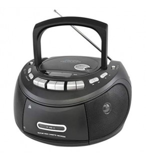 Groove Classic Boombox CD player with Cassette Player and FM Radio