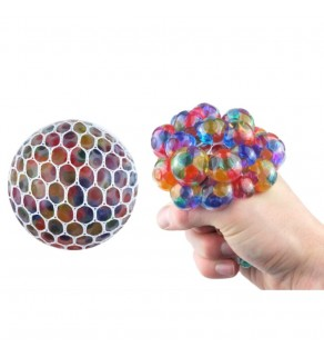 Rainbow effect mesh squishy with orbeez