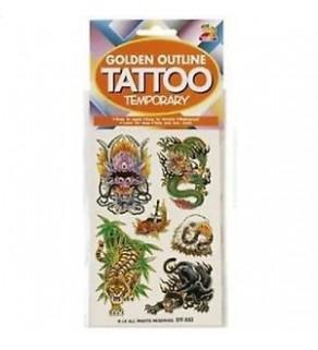 Fake Tattoos-Mixed Chinese Designs