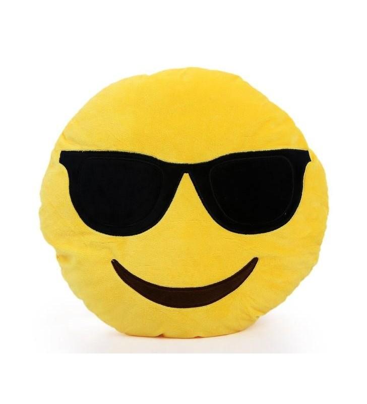 Emoji Cool Dude Pillow Cushion