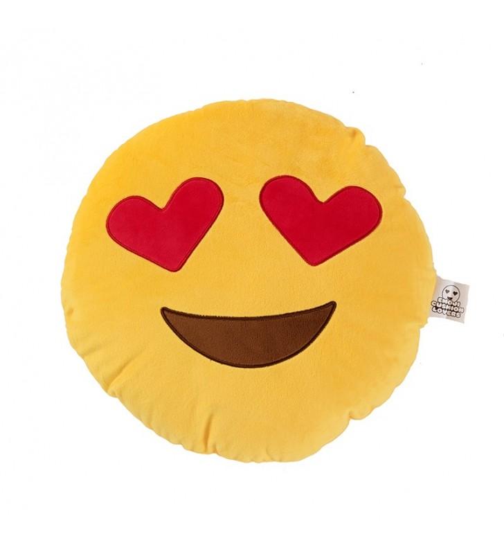 Emoji Loveheart Eyes Pillow Cushion