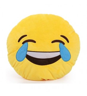 Emoji Crying Laughing Pillow Cushion