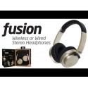 Fusion Wireless and Wired Stereo Headphones