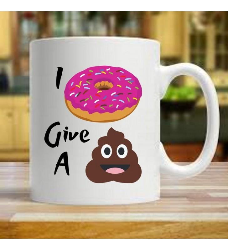I Doughnut Give a Sh*t Emoji Mug