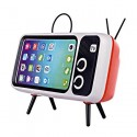 Retro TV Phone Holder with Bluetooth Speaker