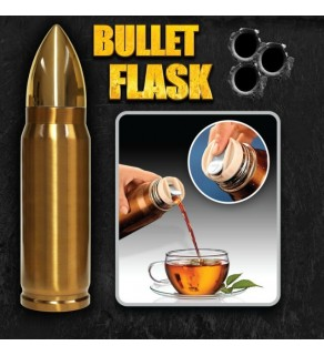 Stainless Steel Bullet Flask 500ml Capacity